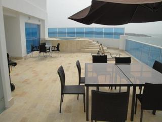 AMAZING LUXURY PENTHOUSE WITH MILLION DOLLAR VIEWS AND ACCOMODATIONS, TERRACE/ HOT TUB - Cartagena District vacation rentals