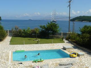 Avlaki beachfront villa with pool in Kassiopi - Kassiopi vacation rentals