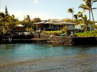 Kapoho Estate Oceanfront Home with Large Aquatic Private Pond, Swim, Snorkel & Fish from Property! - Puna District vacation rentals