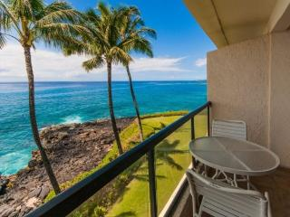 PS302A, Oceanfront condo with spectacular ocean views, ocean front heated pool, bbq and free rental car - Poipu vacation rentals