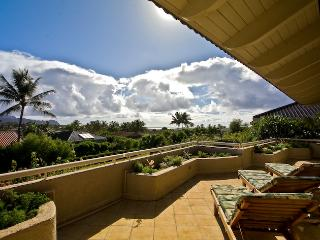 Lanai with view to Ocean - Beautiful, Spacious Poipu Kai Home with views - Poipu - rentals