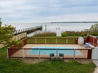 View of pool area and soundfront from house. - Sounds Delightful 117666 - Kill Devil Hills - rentals