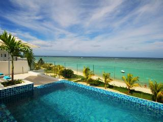 Beach Penthouse Wolmar private pool, beachfront - Roches Noires vacation rentals