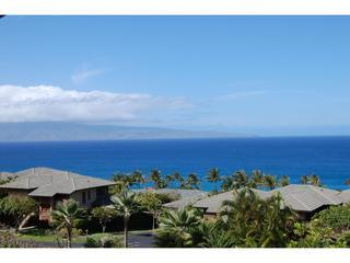 Looking West is Molokai - Kapalua Ridge 1 bd 2 bth OceanView Hawaiian Gold - Kapalua - rentals