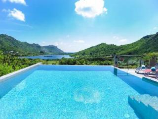 Contemporary Villa Harry boasts valley and sea views, infinity pool & daily maid - Grande Saline vacation rentals
