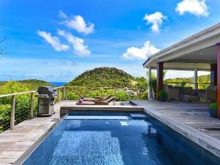 Renovated villa Lenalee boasts hillside and ocean views with pool and covered terrace - Flamands vacation rentals