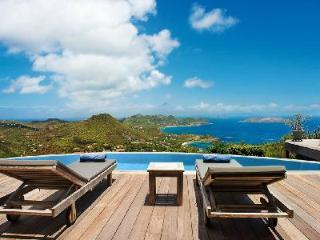 Sunset facing Villa Axis offers magnificent views, infinity pool & secluded location - Petites Salines vacation rentals