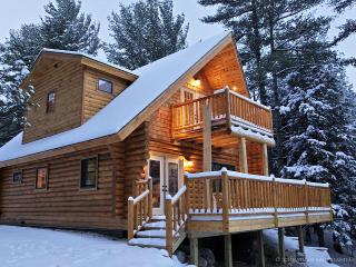 Adirondack Log Home w/ riverfront & mountain views - Whiteface Mountain Region vacation rentals