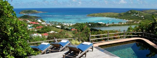 2 Bedroom Villa Overlooking the Grand Cul de Sac Lagoon in Marigot - Image 1 - Marigot - rentals