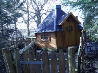 THE WOODCUTTERS GINGERBREAD CABIN  lakes & alston log cabin /shephereds hut .hot tub peat/log burning stove oven - Alston vacation rentals