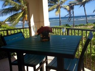 Private Beach Side Dining Table Located on Covered Balcony - ISLAND PARADISE - A TRUE BEACH FRONT VACATION - Woodston - rentals