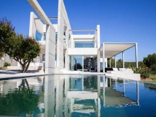 Ocean view Villa Falco with a fireplace, library,  hot tub, and terrace - Sol de Mallorca vacation rentals