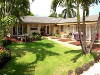 Hale Huna-4bd/3bth house with lovely interiors. Tropically landscaped yard, plentiful seating and BBQ. Short 10 min walk to beac - Koloa vacation rentals