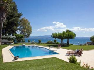 Luxury sea front villa,direct private beach access. - Euboea vacation rentals