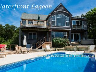 KRIEH - Lagoon Waterfront Luxury,  Pool and Poolside Hot Tub, 500' of Private Sandy Lagoon Beach,  Sweeping Water Views - Oak Bluffs vacation rentals