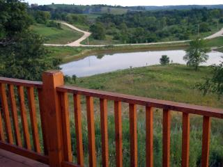 Amish Built Log Cabin Overlooking Private Lake - Iowa vacation rentals