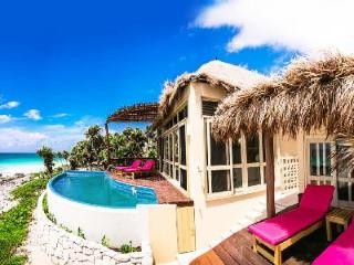 Oceanfront Villa Miramar with King beds and ensuites, pool & great for groups - Tulum vacation rentals