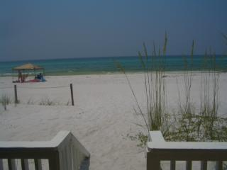 View from Patio off LR - Pirate Cove Villas Beach Front -1 step to the sand - Panama City Beach - rentals