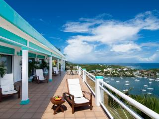 PARADISO... spacious and oh so comfortable 5 BR hillside villa, huge blue views!! - Oyster Pond vacation rentals