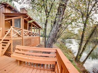 FISH TRAP CABIN*200 FT FRONTAGE ON TOCCOA RIVER-WALKING DISTANCE TO RIVER ESCAPE CABIN-GAS LOG FIREPLACE-2 BR+ SLEEPING LOFT-2 B - Blue Ridge vacation rentals