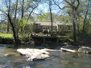 MERRY ROSE COTTAGE*SECLUDED COTTAGE ON THE TOCCOA RIVER~GREAT TROUT FISHING~TUBING~KAYAKING~PETS WELCOME~2BR~2BA~WIFI~GAS GRILL~ - Blue Ridge vacation rentals