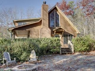 SERENITY*SECLUDED~2BR~2BA~CABIN WITH BREATHTAKING MOUNTAIN VIEWS~KING SIZED BED~SAT TV~HOT TUB~WIFI~PET FRIENDLY~GAS GRILL~WOOD  - Blue Ridge vacation rentals