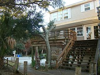 Exterior Front - Tree House - Folly Beach - rentals