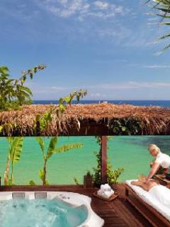 Nestled on private beach, Imperial Spa Villa with serene heated pool & jacuzzi - Image 1 - Tragaki - rentals