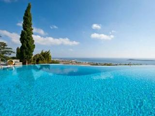 Sea view Agnanti Villa with lush terraced garden, infinity pool & rooftop lounge - Drios vacation rentals