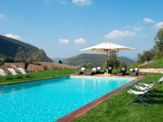 Inspiring Villa Caminata offers lush gardens, incredible views and maid service - Umbria vacation rentals