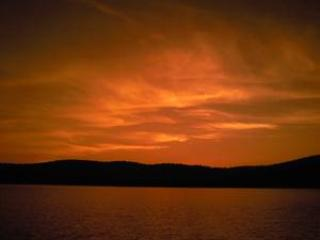View of the Sunset from the dock! - Beautiful Sunset Lake - Lakeside Cabin in VT! - Benson - rentals