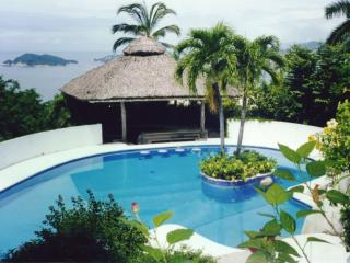 COME TO THIS TROPICAL PARADISE WITH SIX BEDROOMS, TWO POLES,ARTIFICIAL CASCADE AND ENORMOUS SOCIAL AREA. - Acapulco vacation rentals