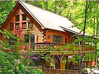 Secluded Creekside Log Cabin, Two Master Suites - Maggie Valley vacation rentals