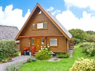 THISTLE DUBH, wooden lodge, en-suite, balcony, pets welcome, WiFi, near walks, cycle routes and golf courses, near Colvend, Ref. - Dumfries & Galloway vacation rentals