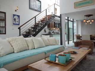 MIGDAL-SHABAZI 1-Amazing 110 m2 lofthouse in Neve Tsedek with roof terrace - 6 guests. - Tel Aviv vacation rentals