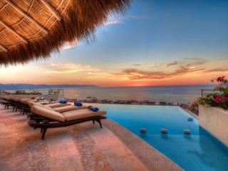 Hillside ocean view Casa Galeana with heated infinity pool & short walk to beach - Puerto Vallarta vacation rentals