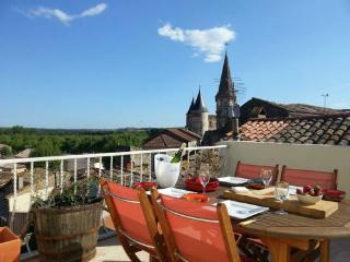 Vine Views - Plunge pool, sunny roof terrace with views - perfect for adults - Pouzolles vacation rentals