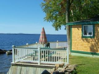 #109 Moosehead Lake cottage with a deck literally `on the water` - Greenville vacation rentals