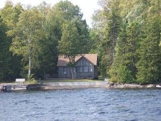 #133 Rustic camp with permanent dock and pebble beach - Greenville vacation rentals