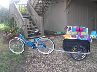 Handy Bike Cart to Carry Beach Chairs, Toys, Cooler, etc. - Best Value on the Island 3 Bd, 2 Ba Private Beach - Sanibel Island - rentals