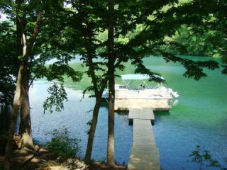 Private Dock w/ Pontoon Boat - Lakefront 4/4 Home, Private Dock, Canoe, Kayaks - Lake Nantahala - rentals