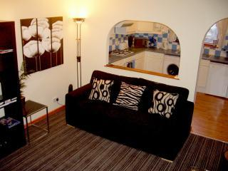 """Boswell - Double Sofabed in Living Room - Glasgow Self Catering Apartments. Boswell """"Lower"""" - Glasgow - rentals"""