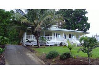 View of house from street - Hakalau Hideaway, Relaxing Ocean View - Hakalau - rentals