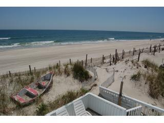 View from upper deck with private beach path on right - 3or6 Bedroom Classy Oceanfront with Stunning Views - Beach Haven - rentals
