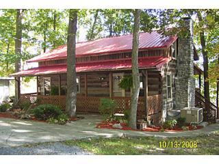 front of home - Douglas Lake Lakefront 2 br 1 bath cabin w/hot tub - Dandridge - rentals