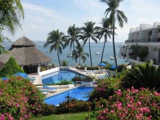 Dolphin Cove Pool and Restaurant Manzanillo.JPG - OCEAN FRONT CONDO WITH BEACH ACCESS - BEST VALUE - Manzanillo - rentals