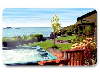 Hottub overlooking Strait of Juan de Fuca - Otterpoint Beach House - Sooke - rentals