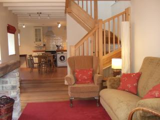 Living Room and Kitchen Area.JPG - Castlegate Coach House in Central Pickering - Pickering - rentals