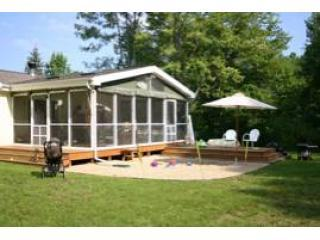 Back Yard and Screen Porch - Prairie House and Sleeping Cottage-Harbor Country - Harbert - rentals