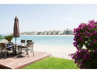 Villa Talida - a view from the terrace - Beach Villa - 5 Bedrooms and Pool on The Palm - Palm Jumeirah - rentals
